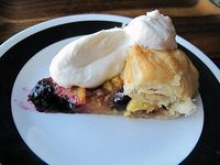 Simple & Easy Peach Blueberry Galette