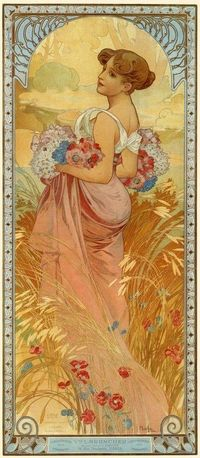 Alphonse Mucha �€˜Summer' The Seasons Series 1900