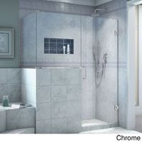 DreamLine Unidoor Plus 54 in. W x 30.375 in. D x 72 in. H Hinged Shower Enclosure (Chrome), Clear