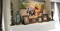 images of family picture over fireplace   Decorating with Portraits at Peekaboo Photography - Capturing Joy with ...