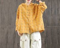 Summer loose tops,women's tops,large size tops,Casual dress,Loose cotton shirt,Casual hoodie,Long-sleeved tops,handmade tops,Straight top $55.00