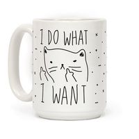 Show off your independence and rebelliousness with this sassy, cat lover's, careless feline inspired coffee mug! Go ahead and channel your inner cat, knock over some glasses, and do what you want! Shop our entire coffee mug collection for more cute ca...