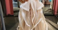 2016 New Champagne High Low Prom Dresses,High Neck See Through Evening Prom Gowns,Tiered Tulle Skirt Graduation Dresses,Beaded Wedding Party Gown For Sweet 16 Dresses