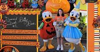 Pumpkin Donald and Princess Daisy Disney scrapbook page layout idea