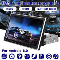 Android 8.0 Car Radio Stereo 10.1 in Touch Screen 2&32G 1Din 8-Core GPS Navigation Wifi FM