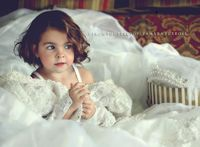 take pictures of daughters in your wedding dress for them to use on their wedding day. So sweet!