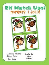 FREE Elf Match Ups! Numbers 1 to 10 - This is a great seasonal math freebie for your math centers! Your kids will have fun matching the elf hats and feet. in a simply activity for the holidays