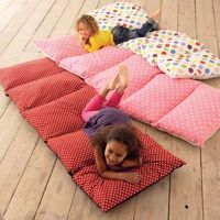 Sew old pillowcases together to make floor cushions. perfect for the playroom.