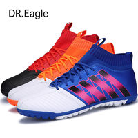 football sock boots flying weaving Football Shoes with ankle futsal ball training soccer boots $58.02