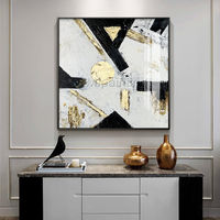 Gold art Modern abstract Acrylic paintings on canvas art heavy texture large framed painting Wall Art wall pictures cuadros abstracto $148.75