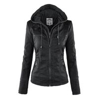 Price: $44.59 | Product: Vintage Style Turn Down Collor faux PU leather PU female Jacket | Visit our online store https://ladiesgents.ca