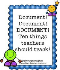 HoJo's Teaching Adventures: Do you need to be better about documentation in your classroom? This post will give you great ideas and tips to get started and stay