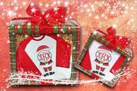 Santa Monogram Women's Raglan Shirt $24.99