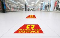 You can ensure social distancing by placing these custom advisory floor stickers in your office.