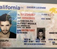California fake driver license made by IDBOSS is where to get novelty scannable identity