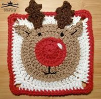Rudolph the Reindeer Afghan Square pattern by Heather C Gibbs on Ravelry, for sale £1.80 - totally LOVE this!