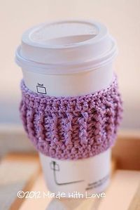 Coffee Cozy - Easy enough to make a few to stash in each car!