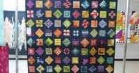 Tula Pink Modern Sampler Quilt | by Lisa of the Saskatoon Modern Quilt Guild