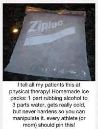 Awesome!!!!! Home made ice packs that's are jelly and not stupid stiff!! DIY