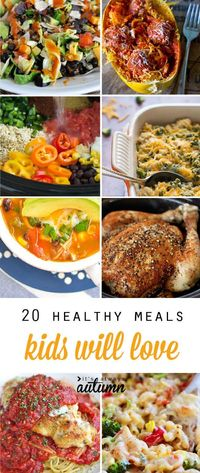 Healthy, easy dinner recipes that kids will love! Lightened up versions of kid favorites and other easy to prepare kid friendly main dishes.
