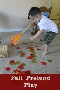 Fall pretend play and practical life skills