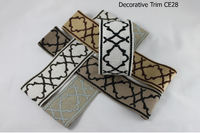Decorative trim with geometric pattern, sewing trim by the yard, modern decorative gimp CE28, trim by the yard for roman shades and drapery $25.00