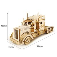 3D Wooden Puzzle,Wood Craft Kit,Heavy Truck Assembly Model,Family Game,Home and Hobby $55.00