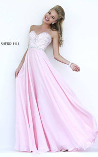 Pink Strapless Sweetheart Gown by Sherri Hill 1944