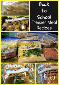 Back to School Freezer Meal Recipes that will save you time in the kitchen! #freezermeals