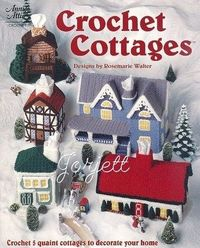 Tissue Box Cover Cottages, Annie's crochet patterns - Amelia really wants a tissue box cover like a house!