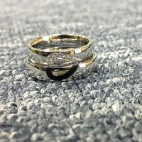 Personalized Half Heart Wedding Rings Set for a Couple https://www.gullei.com/personalized-engravable-half-heart-wedding-rings-for-couples.html