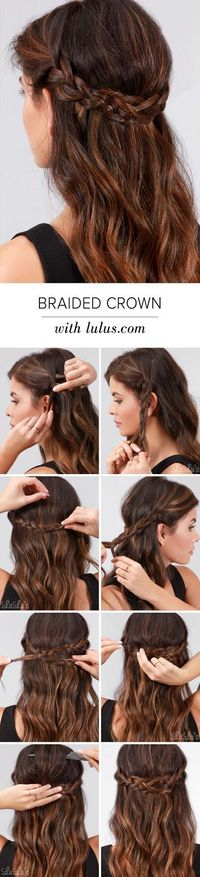 The elegant braided crown look is easier than ever thanks to our simple tutorial with full step-by-step photos and instructions - all on the blog!