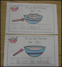 """Good for a directed mini-lesson on writing a complete sentence. Model portions, """" I do not."""" Why isn't this sentence finished?"""