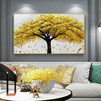 Gold art Tree flower Painting acrylic paintings on canvas original art large Wall Art palette knife wall Pictures Home Decor Hand Painted $149.00