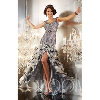 Steel Panoply 14639 - High-low Open Back Sheer Dress - Customize Your Prom Dress