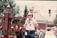 """Amy and DisneyDad at Walt Disney World in May 1979. Note the paper tag hanging from Disney Dad's belt. That is his ticket. While WDW still had the famous """"E TICKET,"""" they started experimenting with a ticket to allow unlimited admission to al..."""