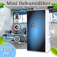 220V 2200ml Portable Home Mute Dehumidifier Air Dryer for Living Room Bathroom Office