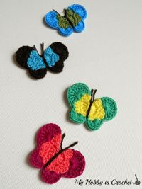 Butterfly Appliques - FREE Pattern review #freecrochetpattern #crochetbutterfly