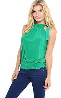 Krisp Ladies Women Tie Up Halter Neck Sleeveless Elastic Hem Draped Ruched Blouse Flattering Bow Tie Summe No description http://www.comparestoreprices.co.uk//krisp-ladies-women-tie-up-halter-neck-sleeveless-elastic-hem-draped-ruched-blouse-flattering-bow...