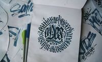 Calligraphy collection: part one. by Pokras Lampas, via Behance