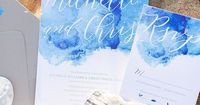 watercolor invitation | Amanda Hedgepeth Photography | Glamour & Grace