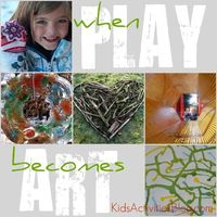 It's Playtime! I love it when play turns into a thing of beauty. This theme was inspired by Sun Hats & Wellies Boots amazing outdoor art {stick heart i It's Pla
