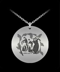 Entombment of Christ, necklace charm, $33.45