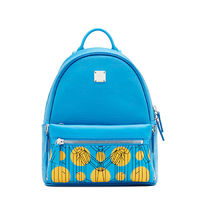 MCM Small Dual Cosmo Stark Backpack In Blue