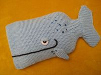 Ravelry: Whale Hot Water Bottle Cover Cosy Animal pattern by Millionbells