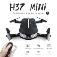 Newest JJRC H37 Mini Elife Dron with Camera HD G-Sensor Control 720P WIFI PFV Altitude Hold Selfie Drone Foldable RC Quadcopter $47.29