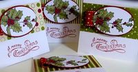 3 x 3 Note Cards using Bells and Boughs