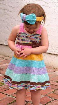 Cute little dress knitting pattern for $8.00--now I have to learn how to knit better ;-)
