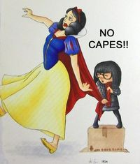 snow white, edna mode and capes.