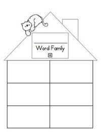family houses, word families and families.